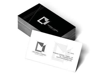 Logo e Cartão de Visita Arquiteto Cristiano de Moraes