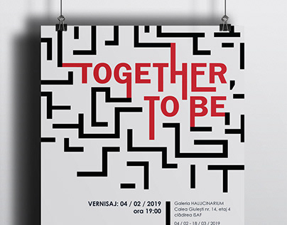 Together, to be // EXHIBITION POSTER DESIGN