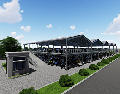 Motorcyles Parking Lots - Factory Building Facility