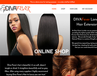 Diva Fever - Wordpress Ecommerce Website