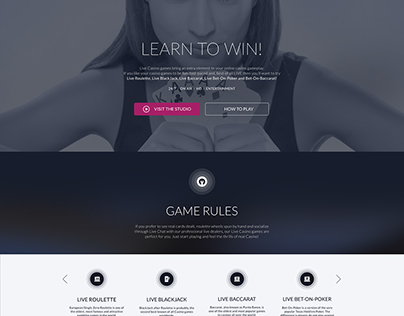 Live casino/ game rules page