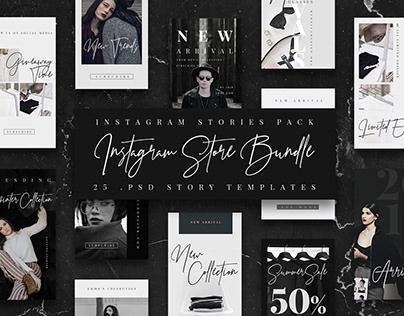 Instagram Stories Bundle Template/ Store/ Fashion