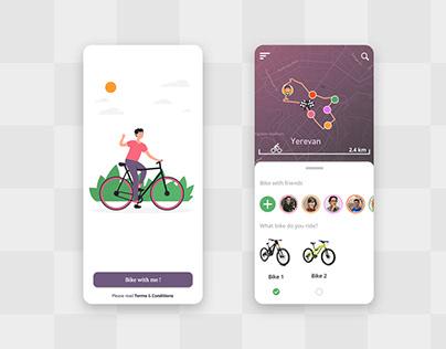 Bike with me - Mobile app design