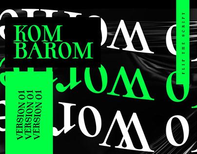 Kom Barom | Font Design