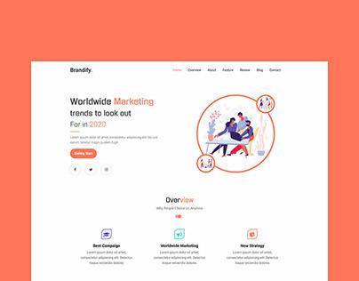 Brandify - Marketing Landing Page Template