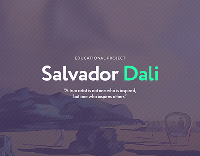 Salvador Dali Website | Educational Project