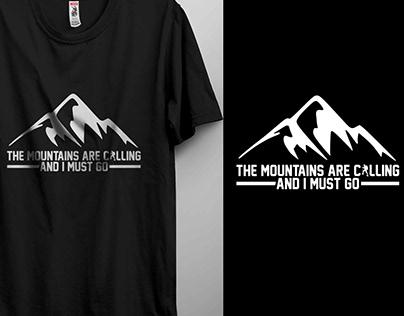 Hiking T-shirt Design