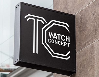 TC WATCH CONCEPT LOGO DESIGN