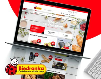 Biedronka.pl redesign concept