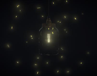 Jar with Fireflies