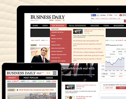 Business Daily Online News Portal Website