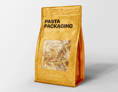 Free Pasts Packaging Mockup PSD