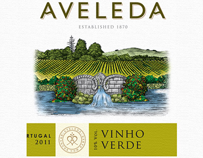 Aveleda Wine Labels Illustrated by Steven Noble
