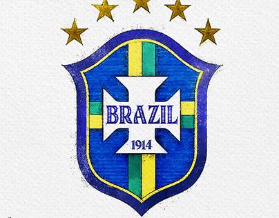A retro retake for Brazil national football team