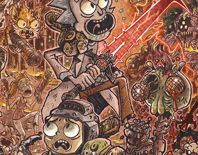 Rick and Morty Doom Eternal mashup