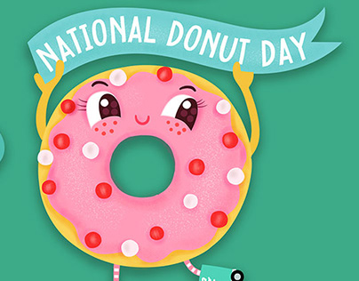 Snapchat US National Donut Day Stickers
