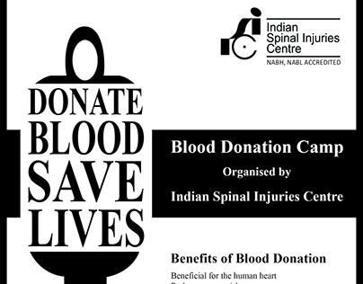 Leaflet designs for Indian Spinal Injuries Centre