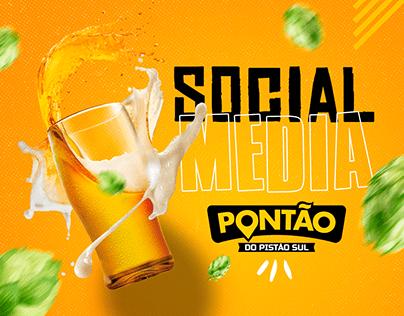 Social Media Pontão Pistão Sul - Bar e Petiscos - Redes
