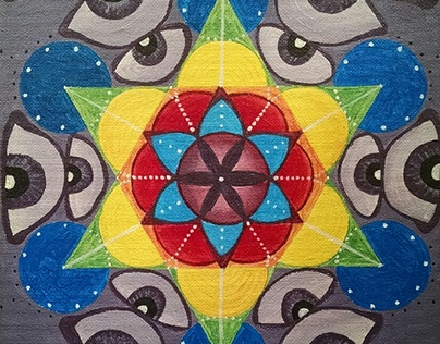 Metatron's Eyes-Acrylic Painting