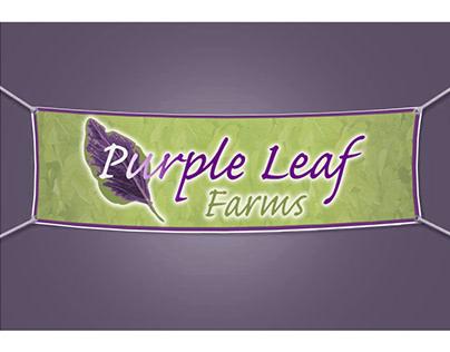 Purple Leaf Farms urban farm logo and branding