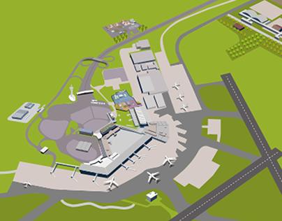 Proyecto audiovisual para Aeropuerto de Ezeiza.