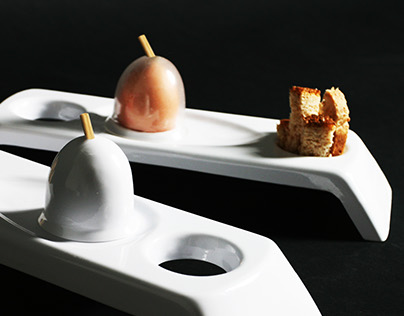 Contemporary & unique way to taste the soft-boiled egg.