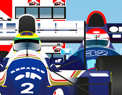 Imola 1994 Formula 1 Poster - Senna & Ratzenberger