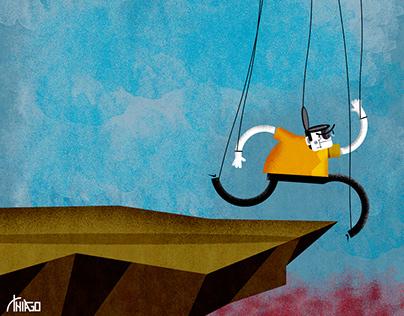 Ilustração para a revista Continente