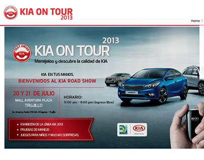 KIA ON TOUR 2013 / Campaña Mundial 2014