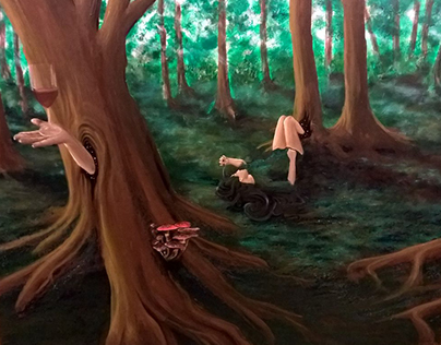 """Finding Myself"" - Acrylic on Canvas - 270 x 100 cm"