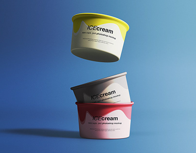 Ice Cream Cups Mockup