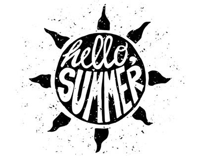 Motivational Lettering Summer Posters