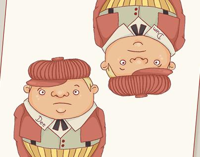 Twiddle Dee & Twiddle Dum | illustration