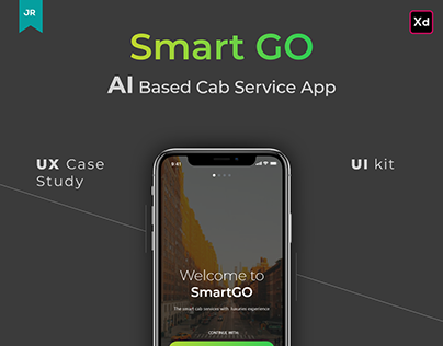 Smart Go AI Based Cab Service App UX Case Study.
