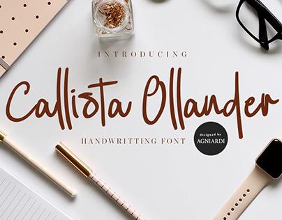Callista Ollander - FREE HANWDRITING SCRIPT