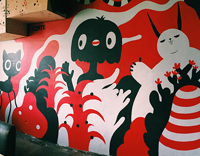 mural for Red Emperor bar