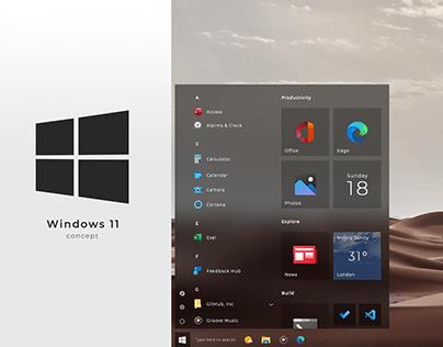 Windows 11 UI concept