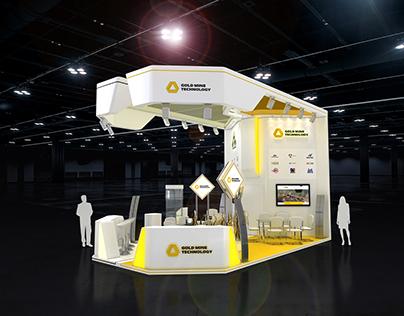 gold mine + горные машины exhibition stand project