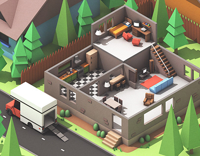 """Moving Out"" Video Game Concept Art"