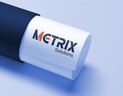 Metrix Solutions Logo Concept
