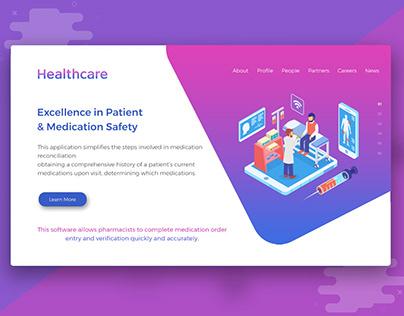 HelathCare UI/UX Design   Landing Web Page