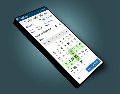 UX Case Study: Pilot Vacation Bidding web app