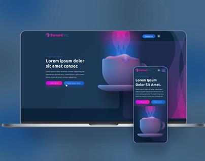 ICO Fundraising Design Concept - Dark Mode