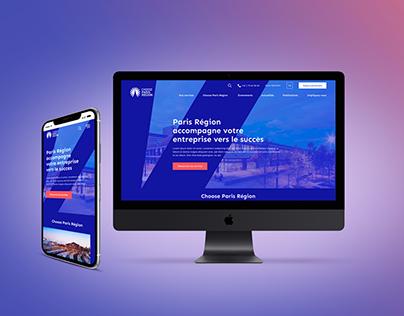 Choose Paris Region website redesign