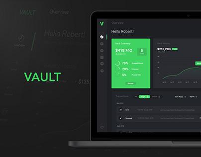 Cryptocurrency Storage Dashboard - Vault