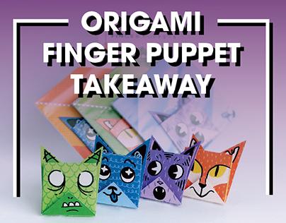 Origami Finger Puppet Takeaway