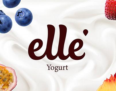 Elle yogurt packaging design (concept)