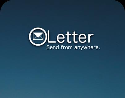 Letter Mobile Application Mock up Design