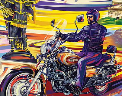 Bajaj Avenger Cruise 220- illustration
