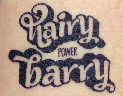hairy POWER barry - your not so average productcharactr